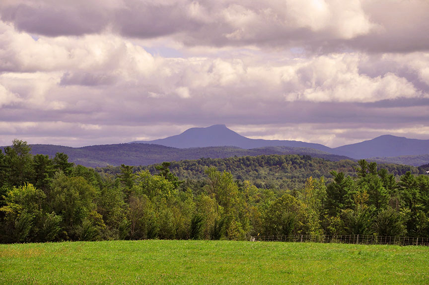 A View of Camels Hump from Shelburne Farms
